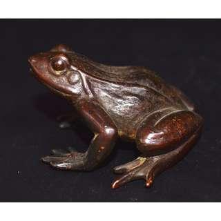 早期愛好收蔵  紫銅鋳  青蛙  蛤蟆  置物