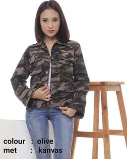 Jaket loreng wanita