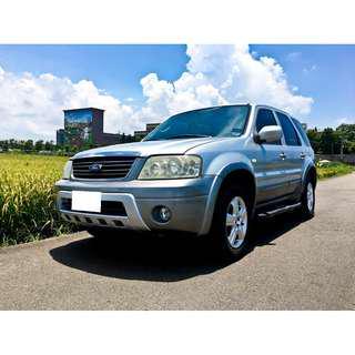 保證實價刊登 2006 ESCAPE 2.3 4X4 四輪傳動 車況優 可全額貸 可超貸
