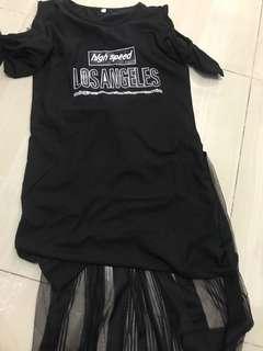 Tutu black dress