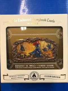 上海迪士尼公主四季馬賽克壁畫徽章 LE800