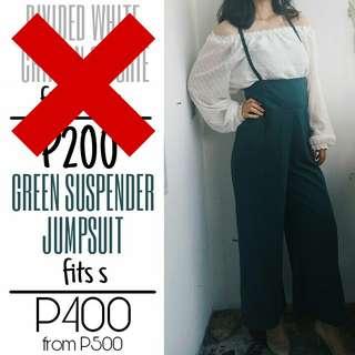 Green Suspender Jumpsuit