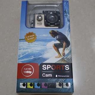 "[全新] 防水運動相機 Full 1080P 高清 1.5"" 螢幕 附安裝配件 Waterproot Sports Camera 1.5inch Screen Full HD 1080P with equipments"