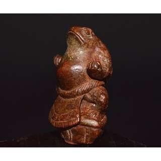 古銅精製  威武青蛙  蛤蟆仙  茶寵擺件