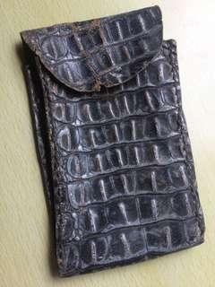 日本鱷魚纹皮小袋