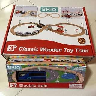 Briq wooden toy train set / Electric Train