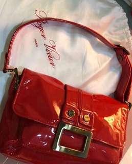 Authentic Roger Vivier patent leather handbag LC RV Celine givenchy Prada