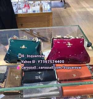(英國代購2星期) 折扣貨 Vivienne Westwood VERNICE 牛皮 漆皮 手提袋 單肩袋 餃子袋 (保証正貨及全新) 綠色/ 玫紅色