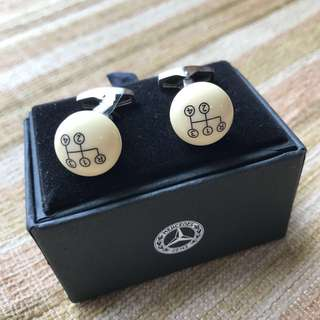 🆕Mercedes-Benz Classic Selection 平治精品 袖口鈕 cufflinks gearstick 原廠正貨