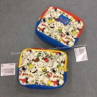大阪環球影城 史努比 查理布朗 糊塗塌客 露西 繽紛 化妝包 收納包 方包 隨身包 萬用包