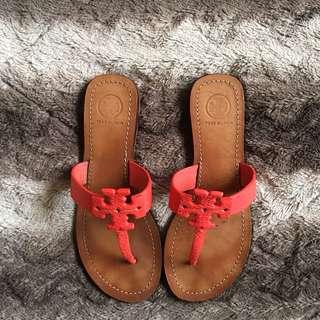 🚚 TORY BURCH罌粟珊瑚夾趾涼鞋