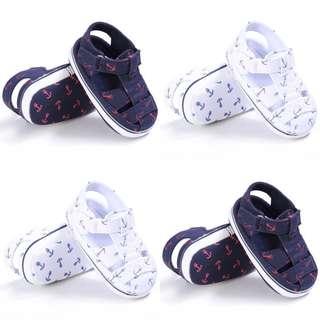 🚚 BN Baby Boy Anchor Print Prewalker Shoes White available! 12cm feet