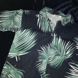 🚚 短袖樹葉襯衫