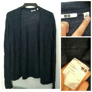 Uniqlo Knit Knitted Blue Long Midhip Cardigan