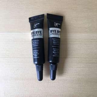 It eye concealer trial sizes light + medium