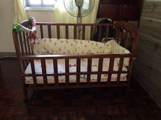 Baby Cot wooden and latex mattress