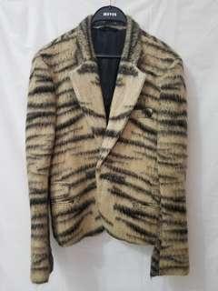 Haider Ackermann animal print coat
