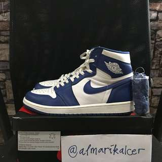 Nike air jordan 1 retro high OG storm blue sz us 9.5 43 original