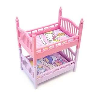 Sanrio 日本版 Hello Kitty & Little Twin Stars 迷你碌架床連 Memo Pad (包郵局自取)