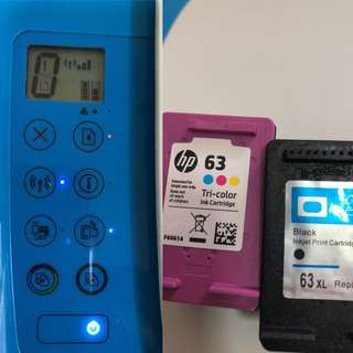 HP all in one printer + 2 cartridges for $20