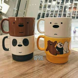 (PRE-ORDER)We Bare Bears stackable mugs