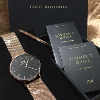 DANIEL WELLINGTON Watch 36mm with Cuff (Authentic)