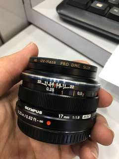 Olympus 17mm F1.8 M.Zuiko Digital Lens with UV Filter