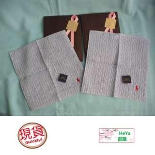 HeYa (現貨包郵費) 日本直送 日本製 日版 Polo Ralph Lauren 超柔軟騎士刺繡 直麻花 毛巾 手巾 汗巾