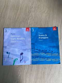 ABRSM grade 3 scales and sight reading books