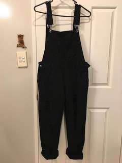 BRAND NEW Black Ripped Overalls