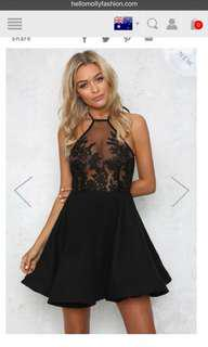 Black lace cocktail formal dress brand new