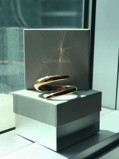 Authentic Calvin Klein Unisex Rose Gold Bangle