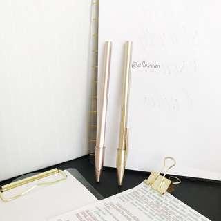 TAKE ALL Rosegold & Gold Ballpoint Pen