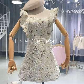 TC2593 Korea High Quality Embroidery Material Dress