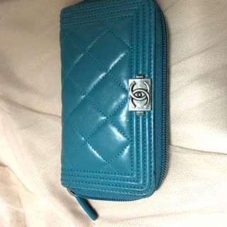 Chanel 100%real & 88% new 罕有湖水綠色,有齊單/咭/貼/盒