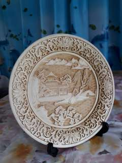 Decorative crafted Scenery Display Plate