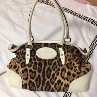 3811ed9aebd Dolce   Gabbana Animalière Léopard Animal Print Canvas   White Leather  Satchel Bag, Women s Fashion, Bags   Wallets on Carousell