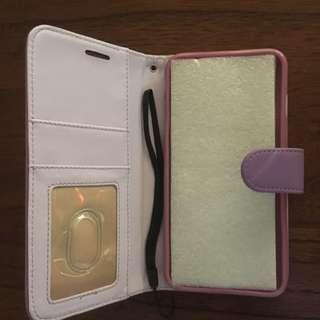 Purple iphone 6 plus wallet case