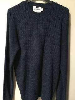 Topman navy blue cardigan