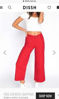 Dish red high waisted pants, never been worn