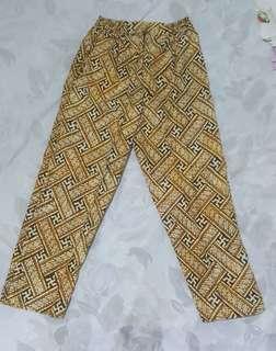 Celana Panjang Batik - Coklat Muda