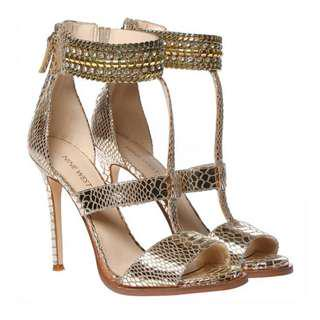 Nine West Heels in Gold