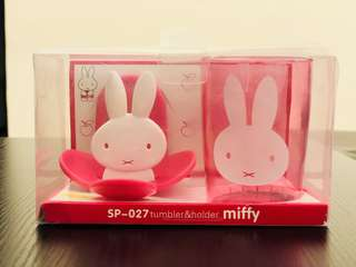 🚚 Miffy tooth brush and cup holder