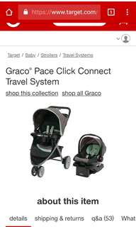 Graco stroller & carrier