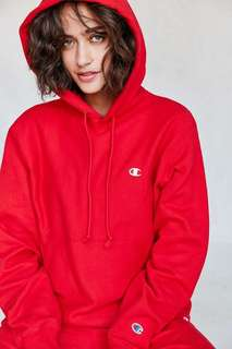 Red champion hoodie size small