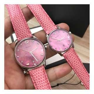 義大利品牌 Gucci Watch 專櫃最新款 Vintage Web系列 施華洛世奇水晶鑽 女士 石英手錶 腕錶 原盒包裝 (WT74-850)