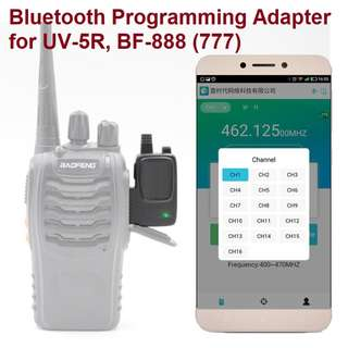🚚 Walkie Talkie Wireless Bluetooth Programming Adapter Connector for Baofeng Radio UV-5R BF-777S/888S for Apple Android Smartphone