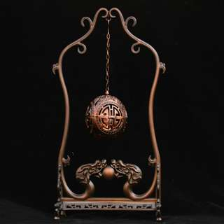 郷下友人贈送  銅製  双龍香薰炉  吊炉  美品