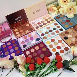 Colourpop palettes - she, element of surprise, you had me at hello, golden state of mind, semi precious, all i see is magic, give it to me straight, makeup ur mind, sol y mar, fortune, this is for you