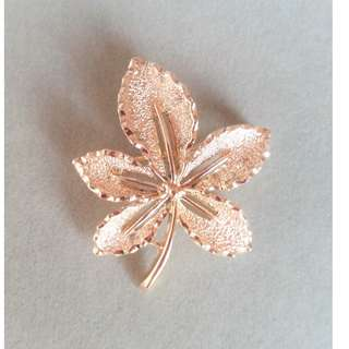 1960s Vintage Mini Leaf Brooch. Signed by Sarah Coventry